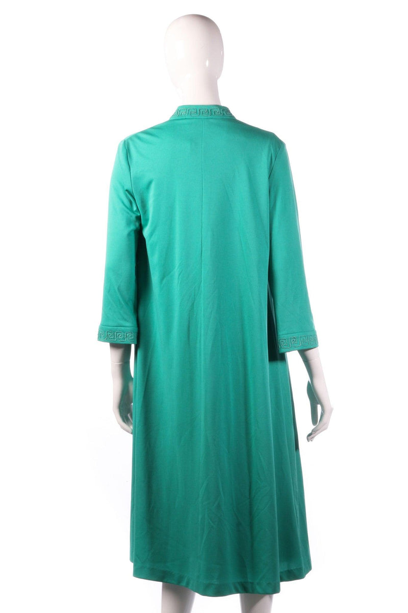 Green evening dress with matching over jacket back