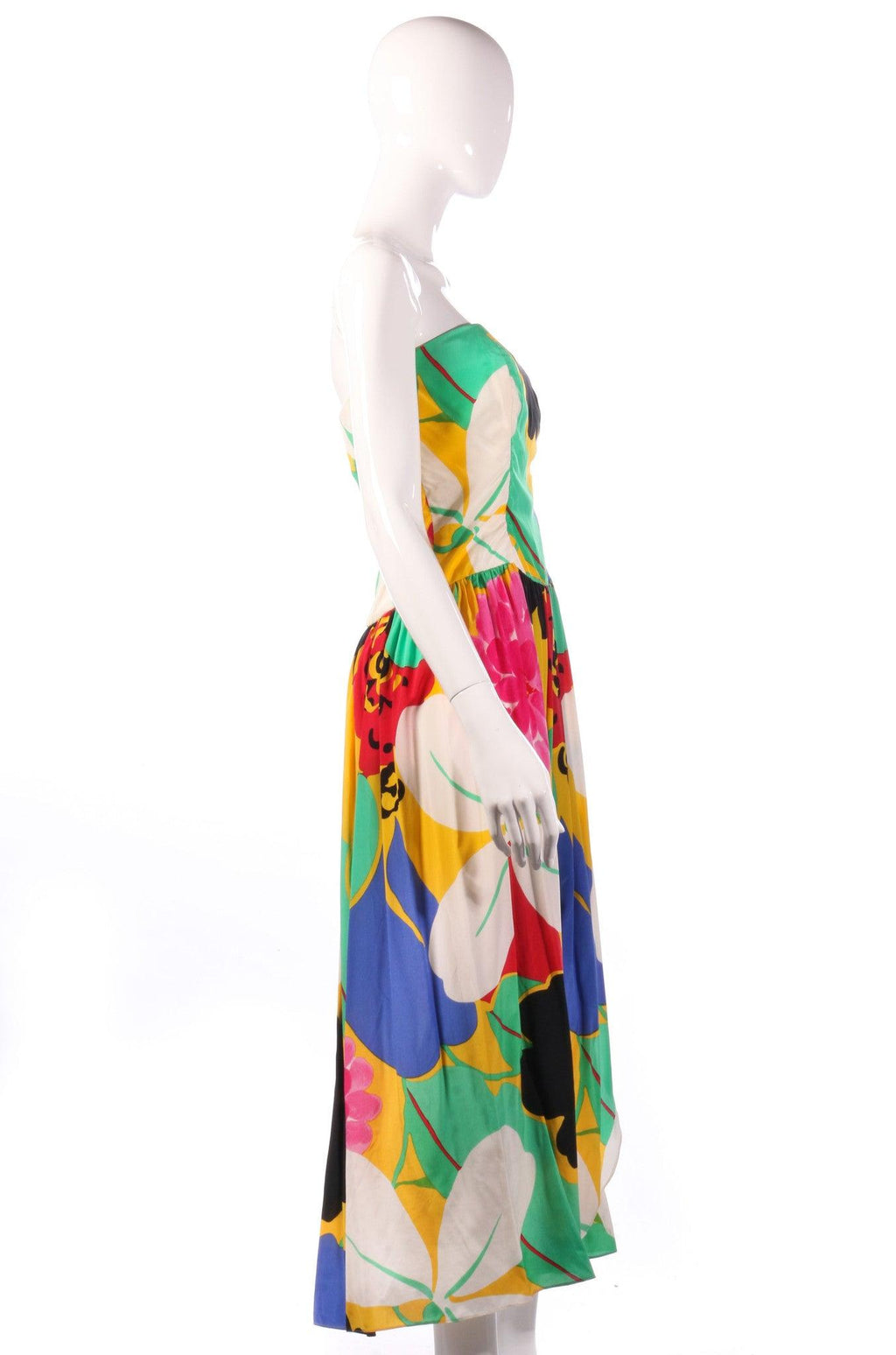 Gail Hoppen multi coloured strapless dress side