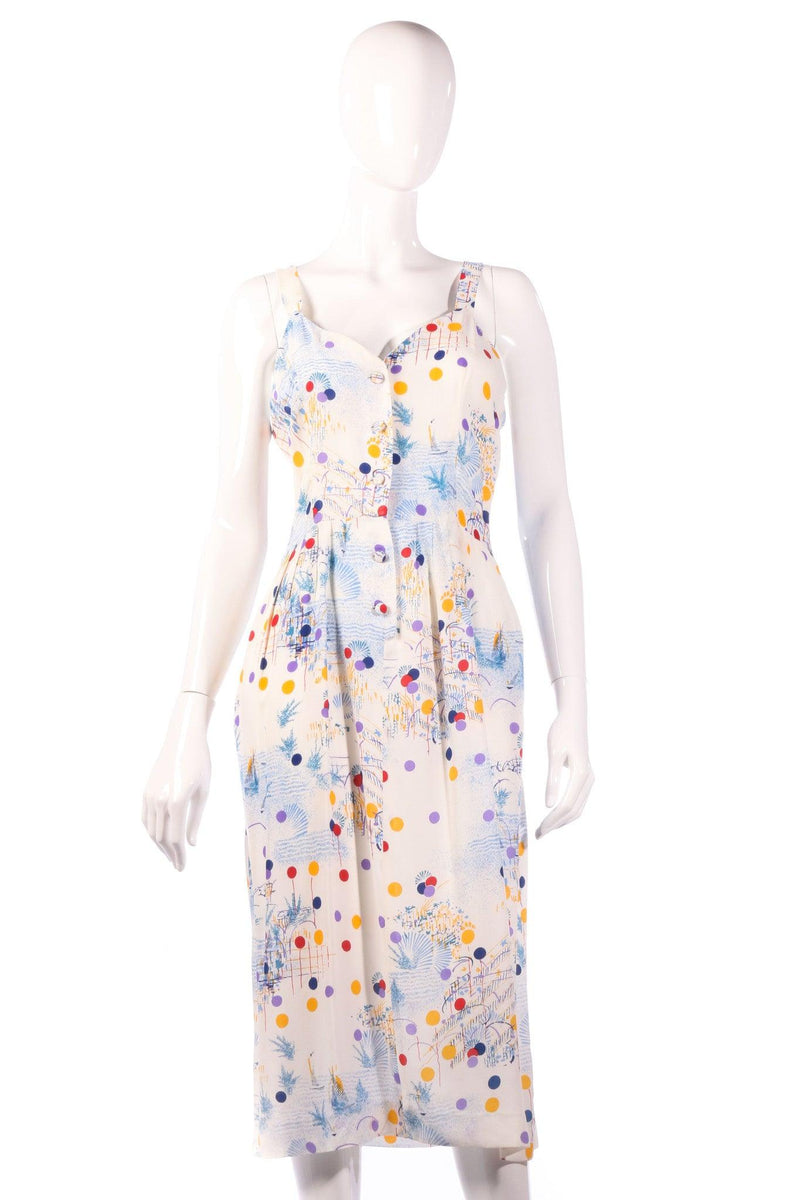 Veronica multi coloured polkadot dress