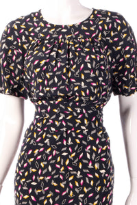 Liola back dress with pink and yellow pattern detail