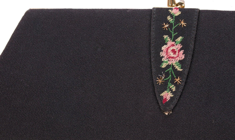 Vintage Golden Age evening purse with embroidery detail