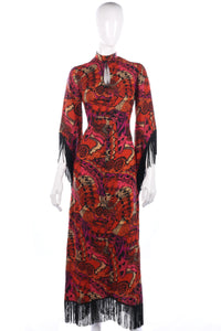 Fantastic vintage Dolly Rockers dress with fringe details