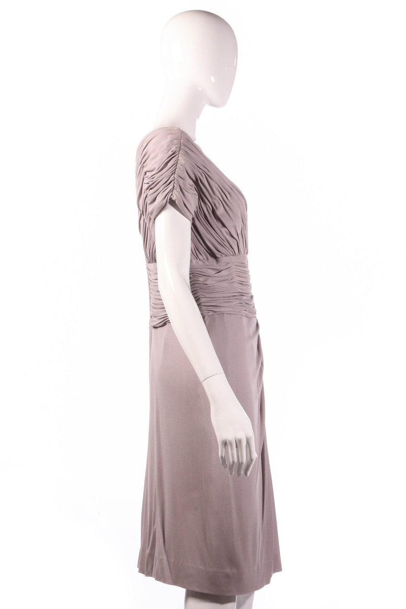 Light grey formal dress  side