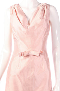 Light pink coktail dress detail