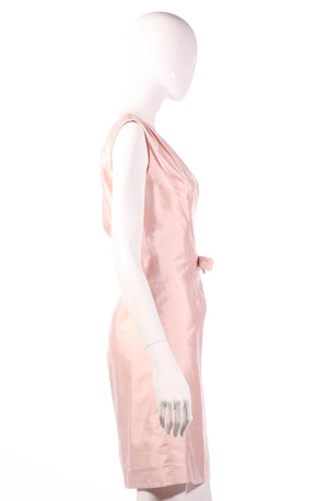 Light pink coktail dress side