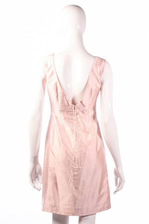 Light pink coktail dress back
