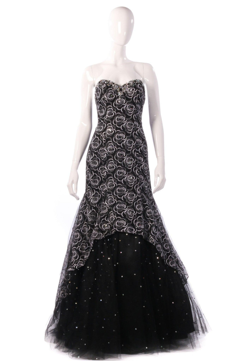 Mari Lee black and silver ballgown