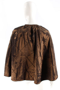 Beaded cape brown satin one size only