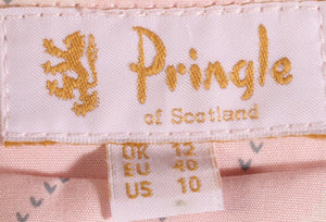 Pringle pink checked anorak size 12 label
