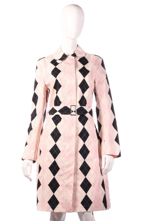 Pringle pink checked anorak size 12