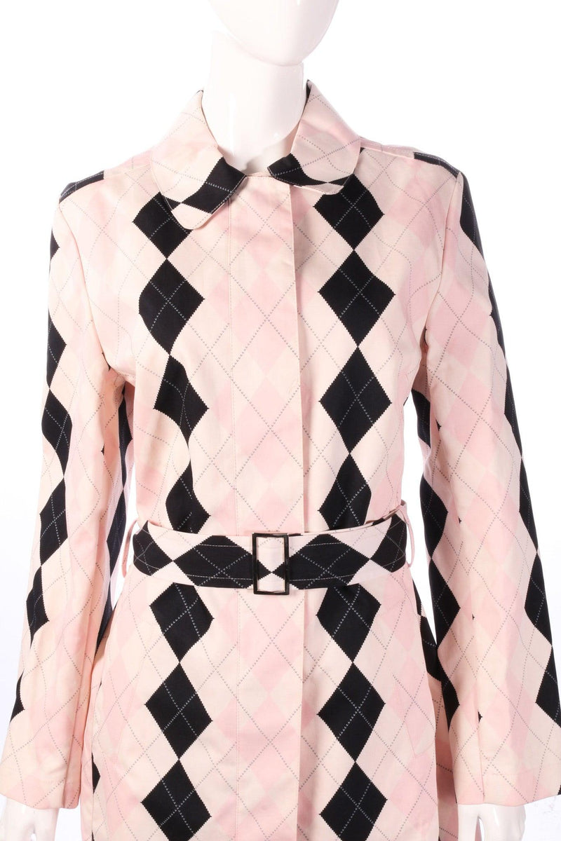 Pringle pink checked anorak size 12 detail