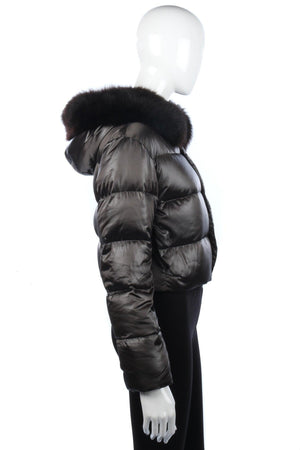 Ralph Lauren Goose Down Padded Jacket. Dark Silver Grey Size 12