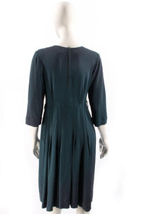 Vintage 1940's dress navy blue