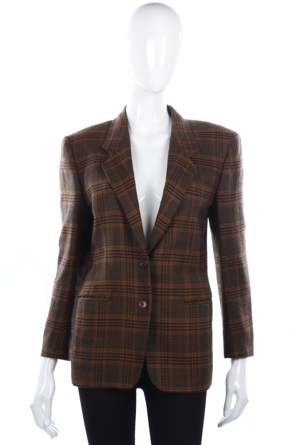 Antonio Fusco Jacket Fine Wool Brown Check Size M