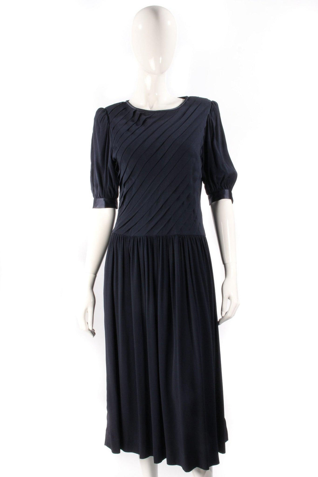 Albert Nipon Boutique Vintage Full Length Dress Navy Blue Size 12