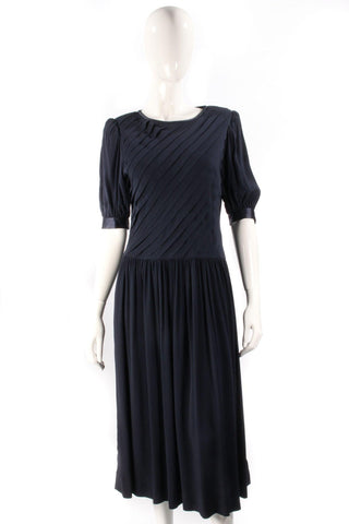 11c822d162f Albert Nipon Boutique Vintage Full Length Dress Navy Blue Size 12