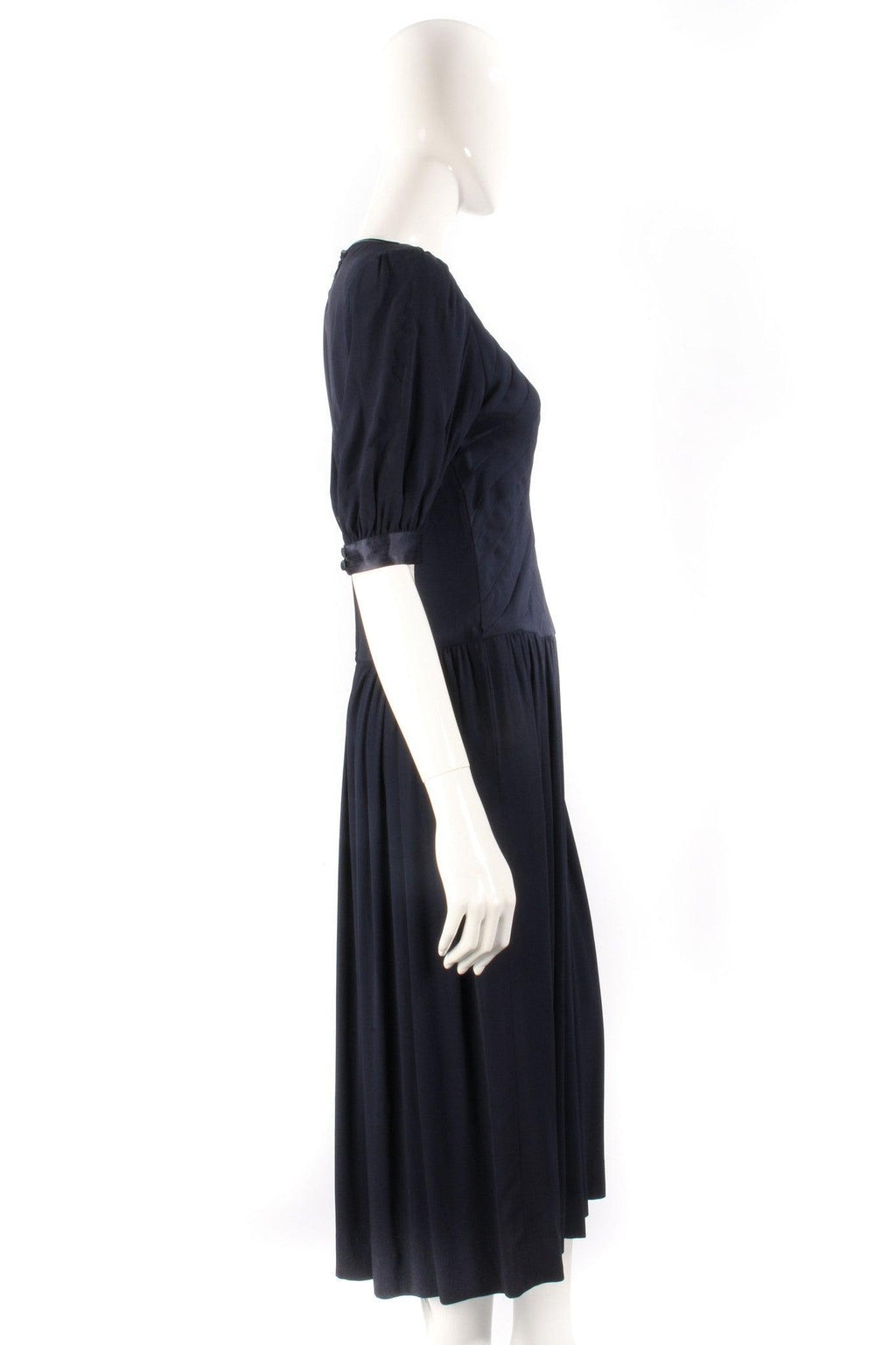 Albert Nipon Boutique Vintage Full Length Dress Navy Blue UK Size 10/12