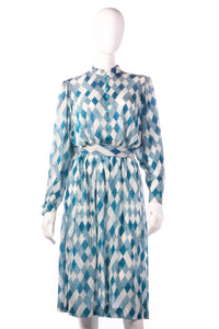 Tricosa light blue checked patterned dress