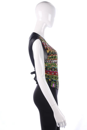 Amazing sequinned waistcoat size M/L