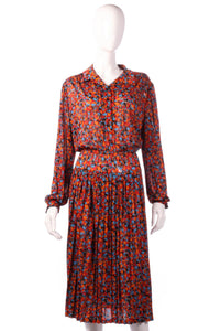 Tricosa orange and blue patterned dress