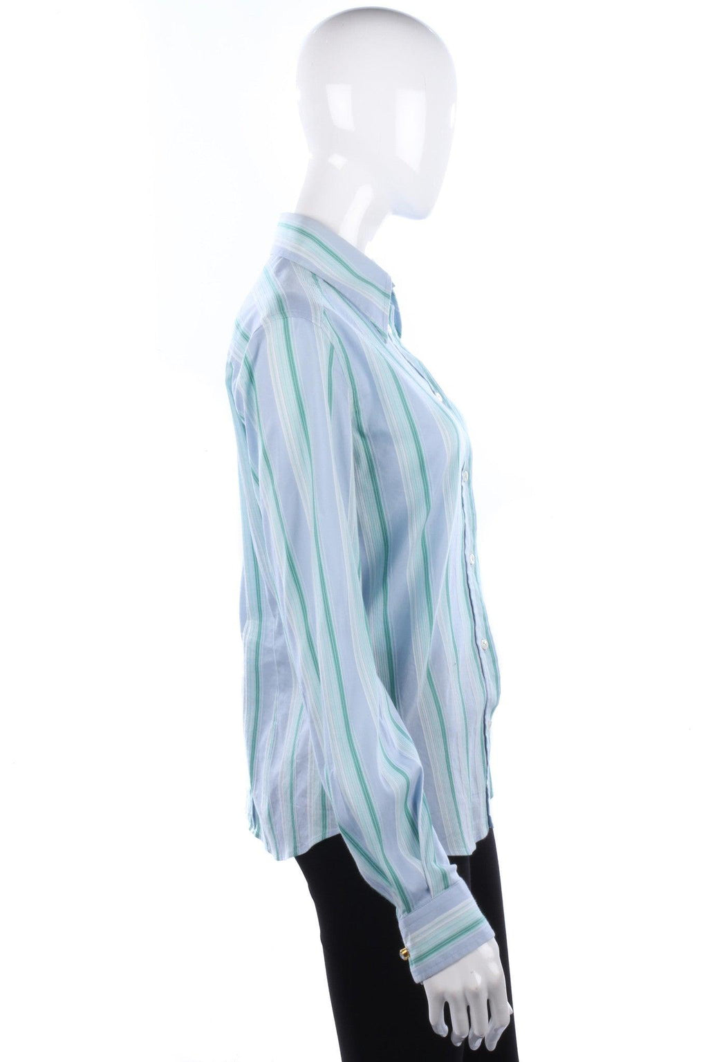 Dolce & Gabbana Ladies Shirt Cotton Blue and Green Stripes UK10