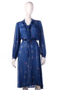 Tricosa Blue dress with circle patern