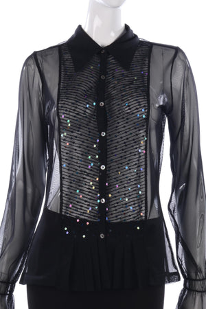 Inwear net blouse with sequins size M