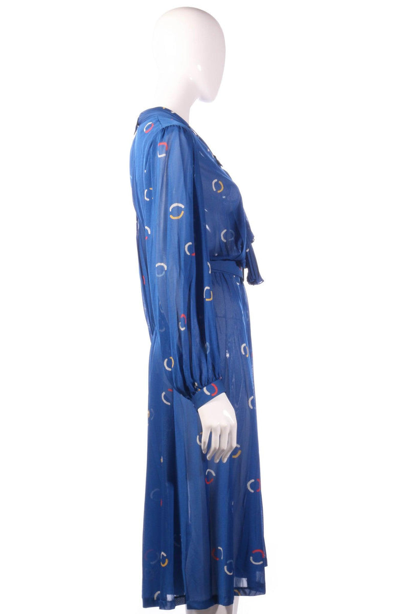Tricosa Blue dress with circle patern side