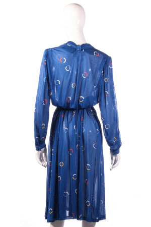 Tricosa Blue dress with circle patern back