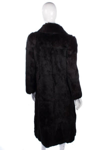 Vintage full length rabbit fur coat, very dark colour