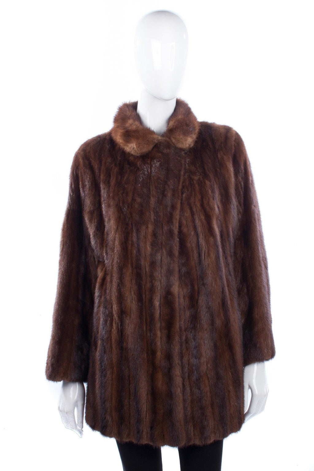 Vintage fantastic brown mink fur coat size M
