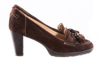 Hobby sport brown suede court shoes size 39 side