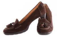Hobby sport brown suede court shoes size 39