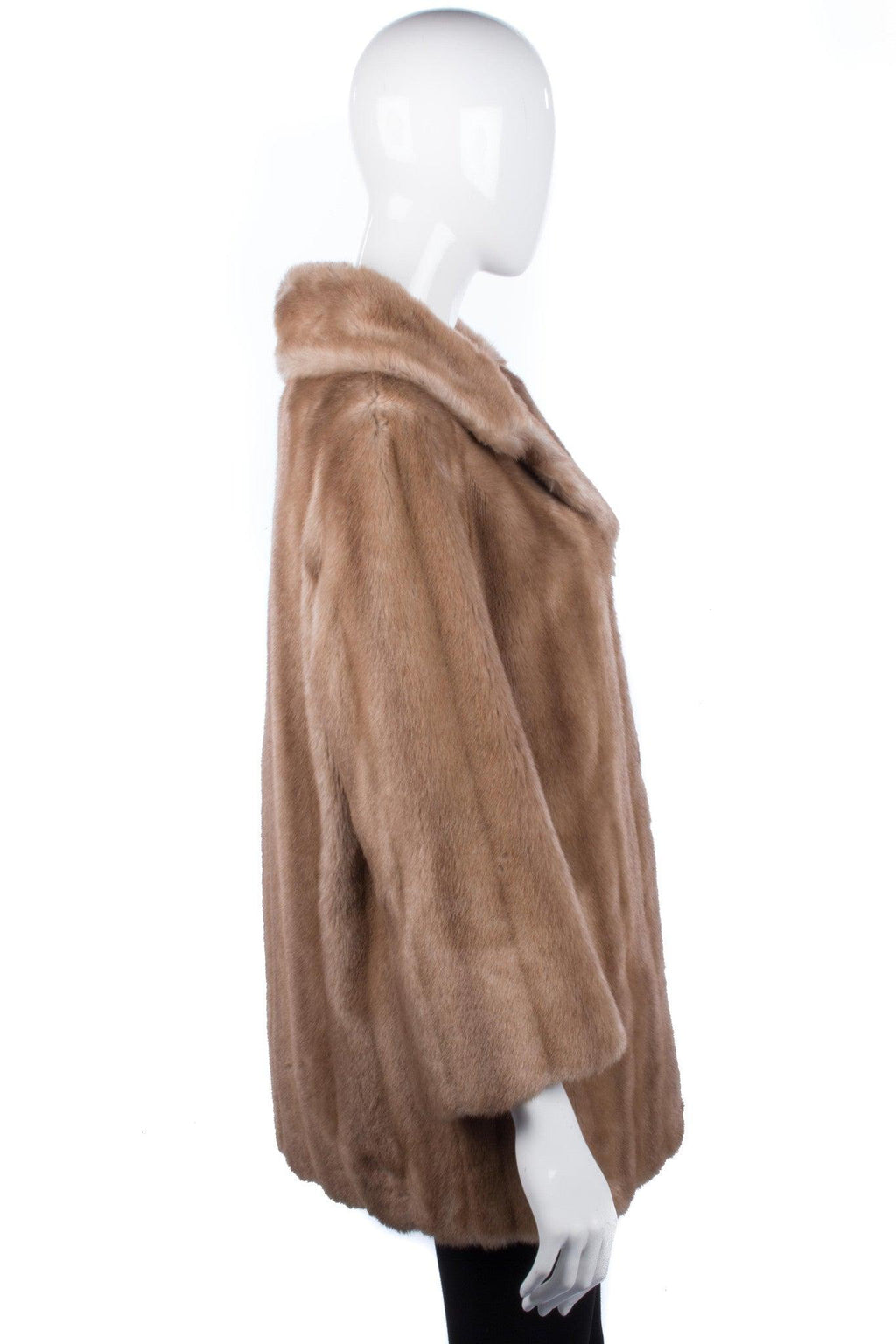 Vintage faux fur Hamells of London blonde coat