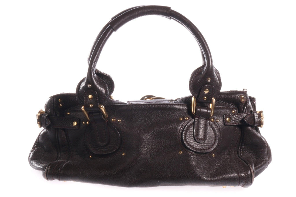 Chloe dark brown handbag  back