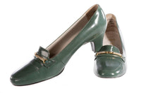 Holmes soft leather green shoes