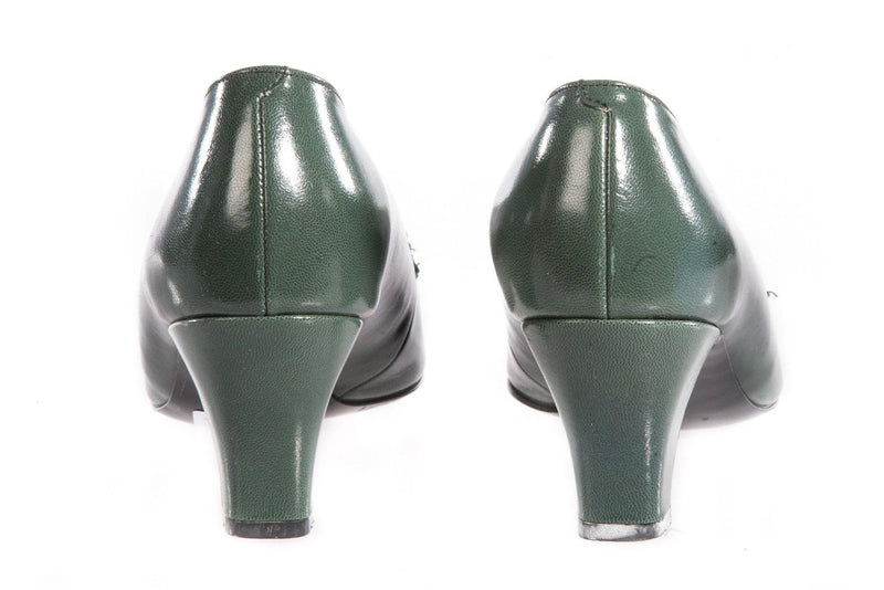 Holmes soft leather green shoes back