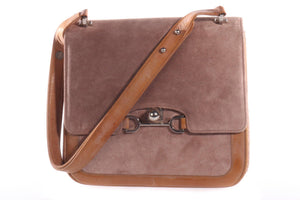Suede and leather handbag
