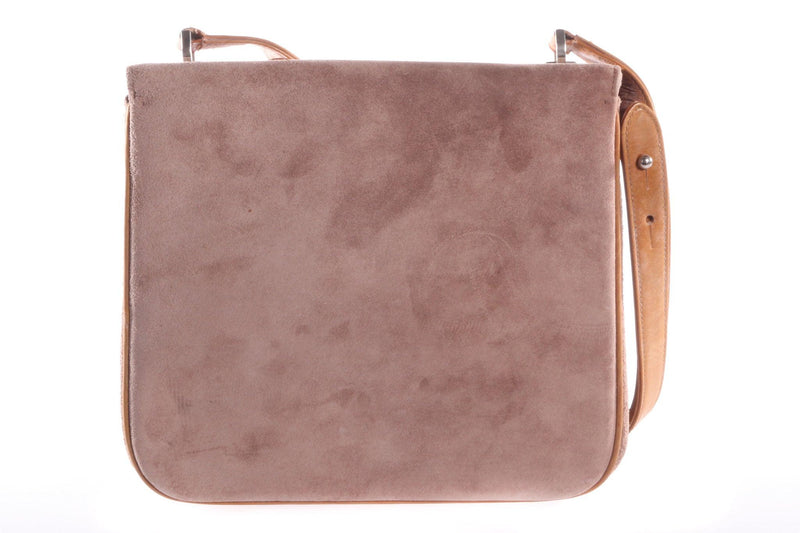 Suede and leather handbag  back