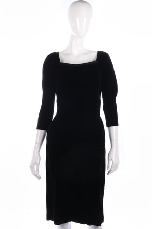 Fabulous black vintage velvet dress size 10