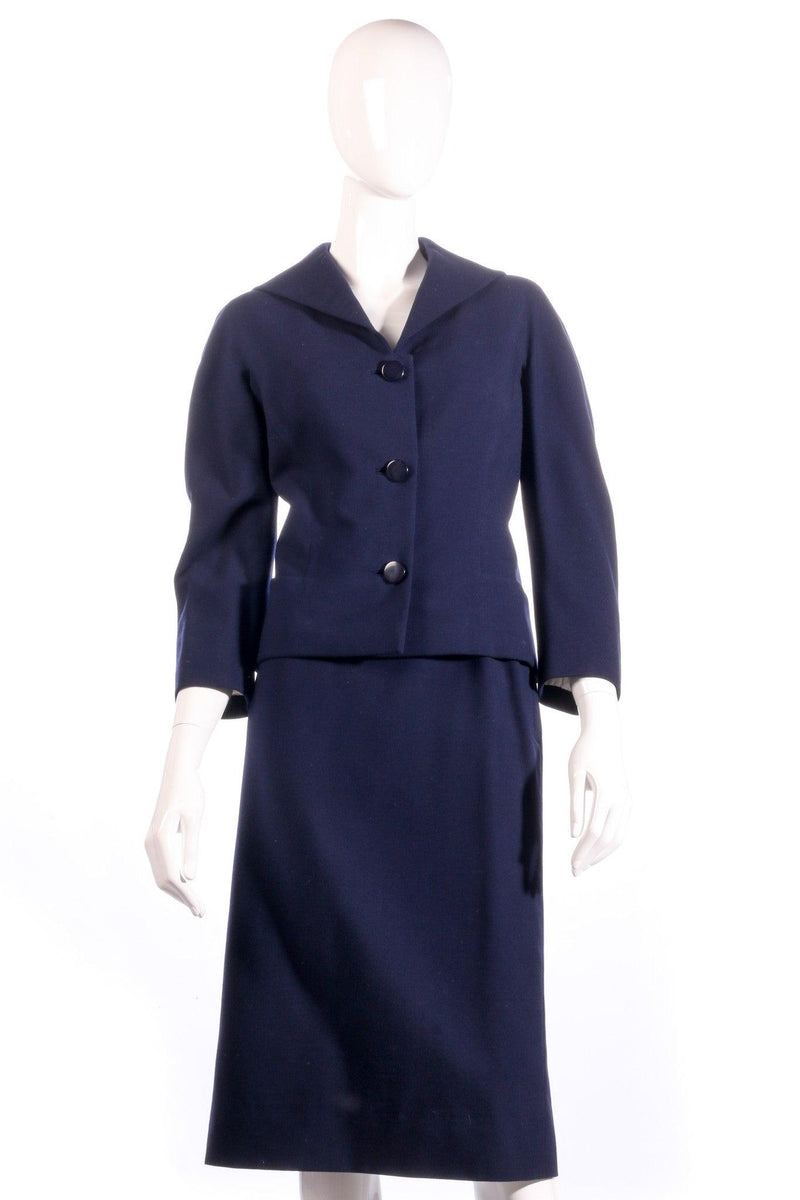 Larry and popper navy skirt suit