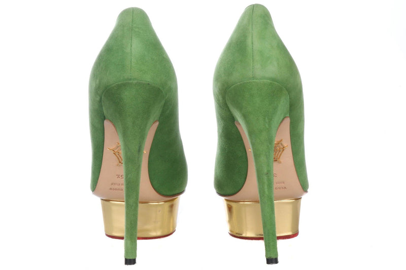 Charlotte Olympia Green Designer Shoes Size 35 1/2