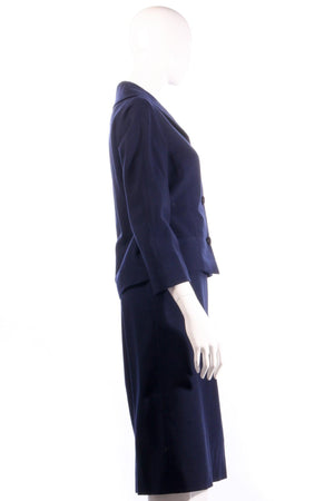 Larry and popper navy skirt suit side