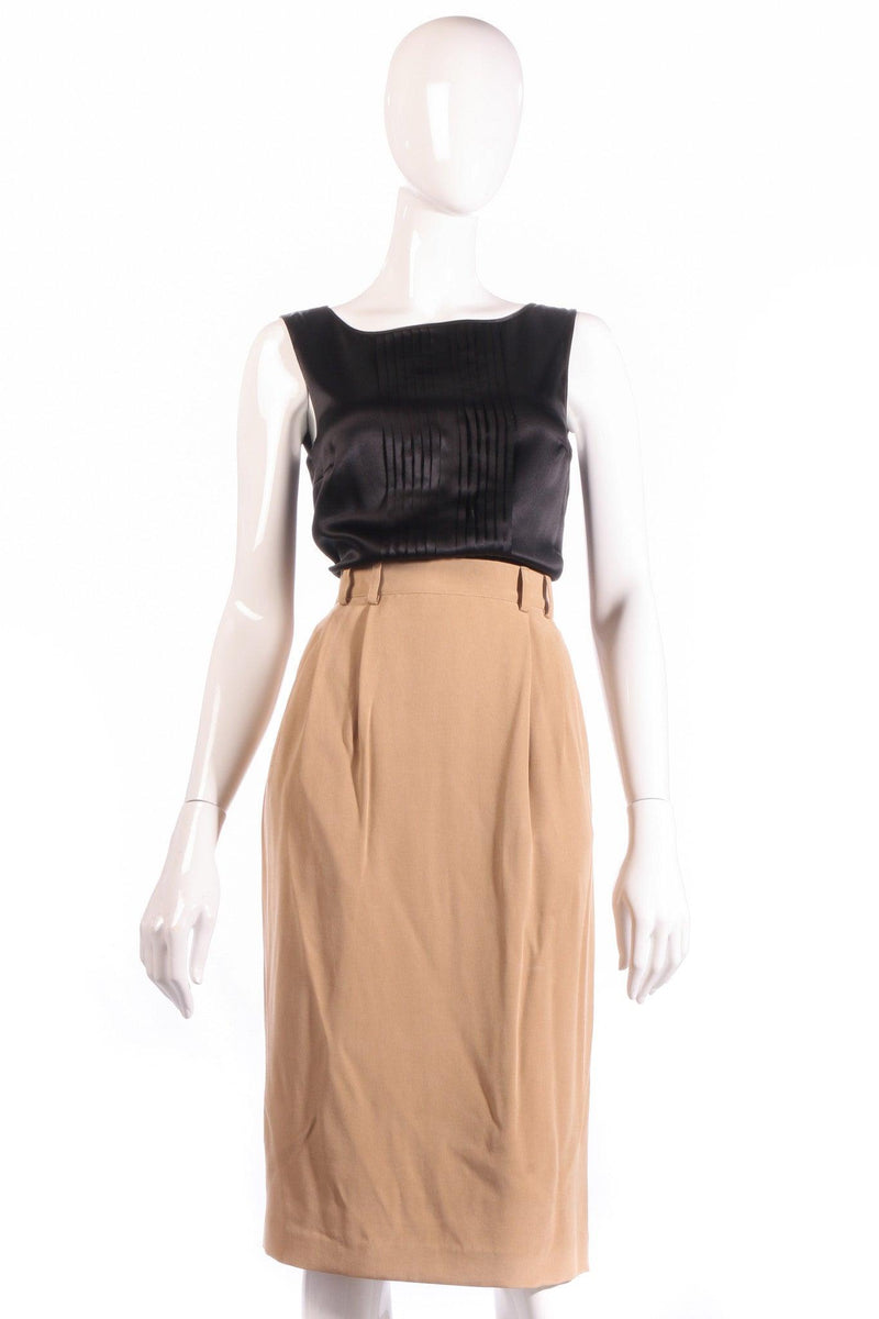 Jaeger silk light brown formal skirt size 12