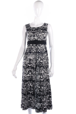 Lovely vintage black and white cotton dress size 10