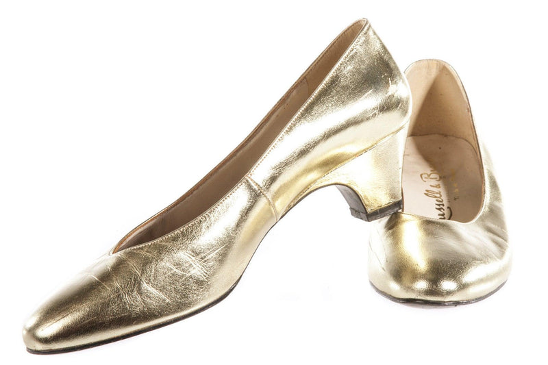 Silver metallic shoes