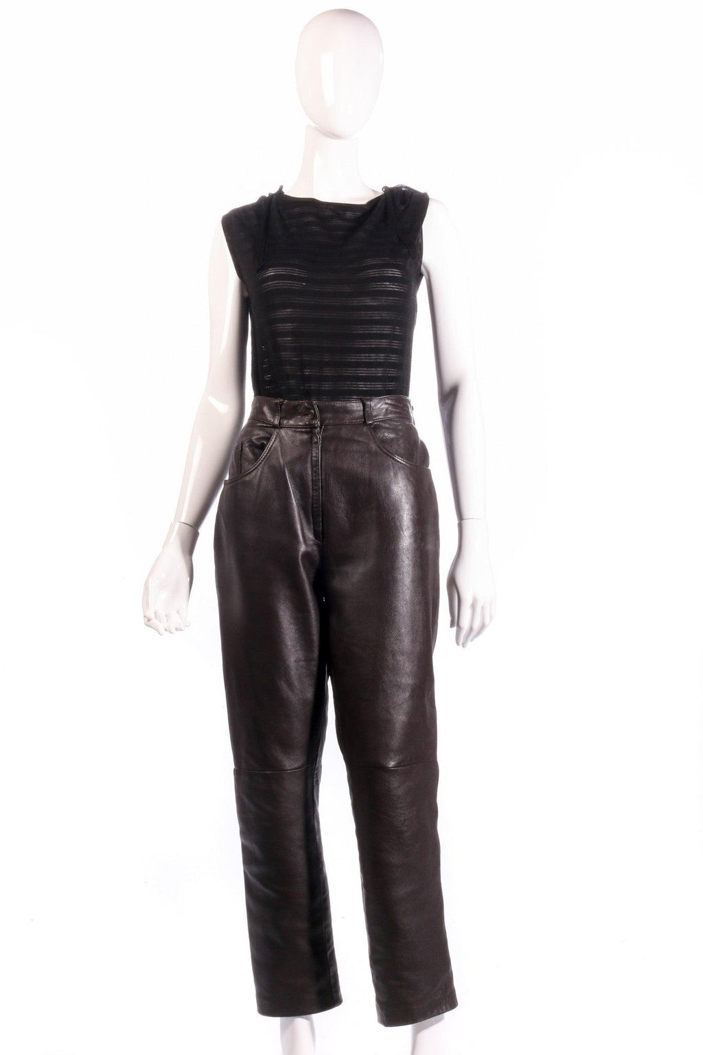 The Collection brown leather trousers
