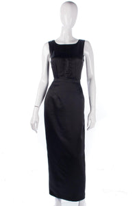 Anthea Crawford Long Evening Skirt Satin Black Size 14