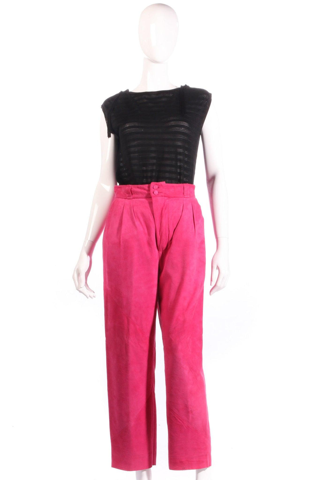 Pink suede trousers