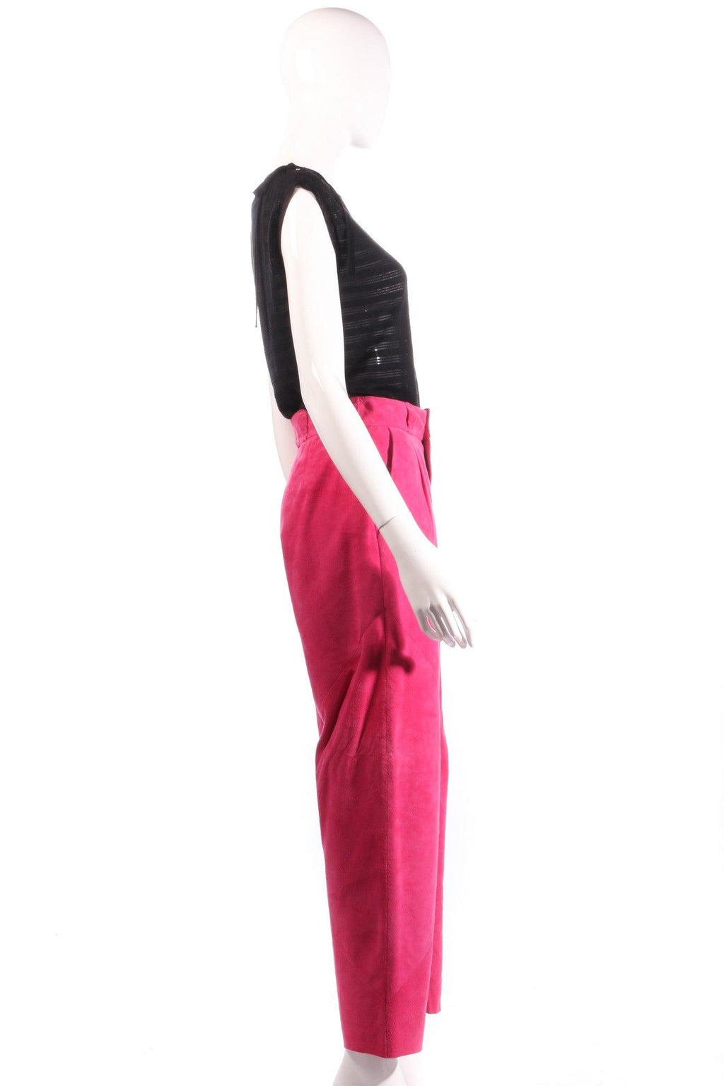 Pink suede trousers  side